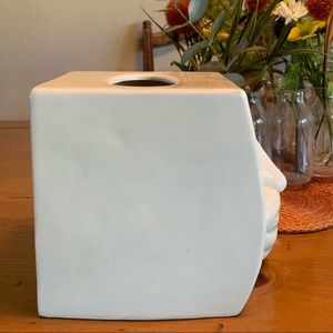 Fitz & Floyd Accents - Rare Fitz & Floyd Sneezing Man Tissue Box